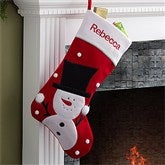 Santa's Helpers Embroidered Jumbo Stocking- Snowman - 12443-SN