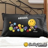 SmileyWorld® Personalized Black Pillowcase - 12465