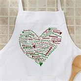 Her Heart Of Love Personalized Christmas Apron - 12475