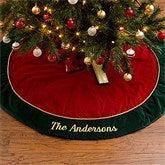 Velvet Splendor Embroidered Tree Skirt - 12481