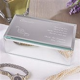 Friend Of My Heart Engraved Mirrored Jewelry Box-Small - 12482-S