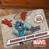 Marvel Retro® Personalized Recycled Rubber Back Doormat - 12487