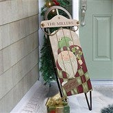 Vintage Santa Personalized Holiday Sled - 12499