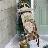 Vintage Santa Personalized Holiday Sled