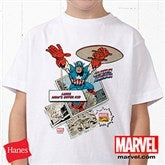 Marvel Retro® Personalized Hanes® Youth White T-Shirt - 12500-YWT