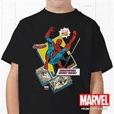 Marvel Retro® Personalized Hanes® Youth Black T-Shirt - 12500-YBT