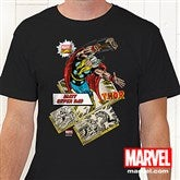 Marvel Retro®  Adult Black T-Shirt - 12500-ABT