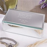 Write Your Own Engraved Mirrored Jewelry Box-Small - 12507-S