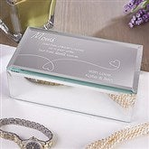 Mother's Hearts Are Forever Engraved Reflections Jewelry Box-Small - 12508-S