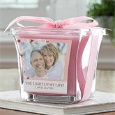 Sweetheart Personalized Photo Scented Glass Candle-Lavender & Linen - 12518-P