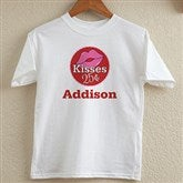 Kisses For $0.25 Personalized Youth T-Shirt - 12520-YT