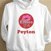 Kisses For $0.25 Toddler White Hooded Sweatshirt - 12520-THS