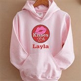 Kisses For $0.25 Pink Youth Hooded Sweatshirt - 12520-PHS