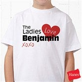 The Ladies Love Me Personalized Hanes® Youth T-Shirt - 12521-YCT