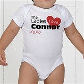 The Ladies Love Me Personalized Baby Bodysuit - 12521-BB