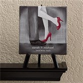 Head Over Heels Personalized Canvas Art-5 1/2