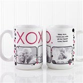 XOXO Personalized Coffee Mug 15 oz.- White - 12531-L