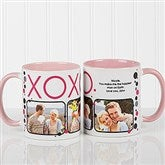 XOXO Personalized Coffee Mug- 11oz.- Pink - 12531-P