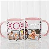XOXO Personalized Coffee Mug- 11oz.- Pink - 12531-P