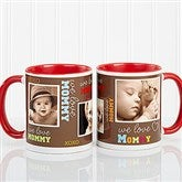 Loving You Personalized Photo Coffee Mug 11oz.- Red - 12536-R