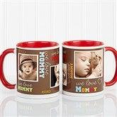 Loving You Personalized Photo Coffee Mug 11oz.- Red - 12536-R