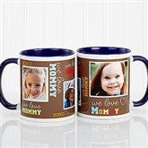 Loving You Personalized Photo Coffee Mug 11oz.- Blue - 12536-BL