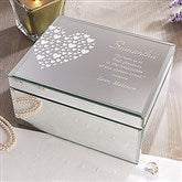 Love Is Kind Engraved Mirrored Storage Box-Large - 12538-L