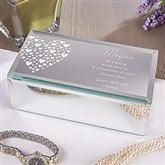 Love Is Kind Engraved Mirrored Storage Box-Small - 12538-S