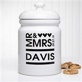Mr. and Mrs. Personalized Cookie Jar - 12541