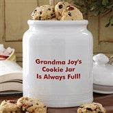 You Name It Personalized Cookie Jar - 12542