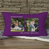 Picture Perfect Personalized Lumbar Photo Pillow - Two Photo - 12552-2LB