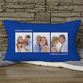 Picture Perfect Personalized Lumbar Photo Pillow - Three Photo - 12552-3LB