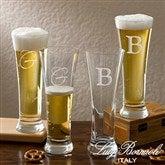 Luigi Bormioli® Engraved Initial Pilsner Set - 12555