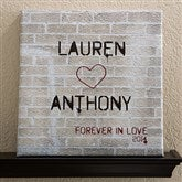 Graffiti Love Personalized Canvas Art-12