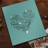 Her Heart of Love Personalized Deluxe Photo Album - 12571