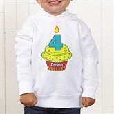 My Little Cupcake Personalized Birthday Toddler Hooded Sweatshirt - 12582-CTHS