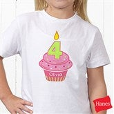 My Little Cupcake Personalized Birthday Hanes® Youth T-Shirt - 12582-YCT