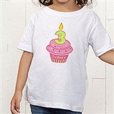 My Little Cupcake Personalized Birthday Toddler T-Shirt - 12582TT