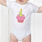 My Little Cupcake Personalized Birthday Baby Bodysuit - 12582-CBB