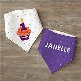 My Little Cupcake Personalized Birthday Bandana Bibs- Set of 2 - 12582-BB