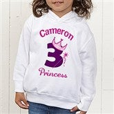 Birthday Princess Personalized Toddler Hooded Sweatshirt - 12583-THS