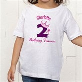 Birthday Princess Personalized Toddler T-shirt - 12583TT