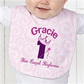 Birthday Princess Personalized Baby Bib - 12583-B