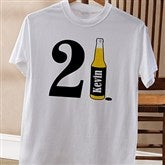 21st Birthday Personalized White T-Shirt - 12586-WT