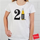 21st Birthday Personalized White Fitted Tee - 12586-FT
