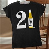 21st Birthday Personalized Black Fitted Tee - 12586-FTB