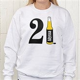 21st Birthday Personalized White Sweatshirt - 12586-WS