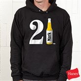 21st Birthday Personalized Black Hooded Sweatshirt - 12586-BHS