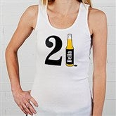 21st Birthday Personalized White Tank - 12586-WTT
