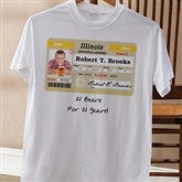 Driver's License Personalized Birthday White T-Shirt - 12587-WT